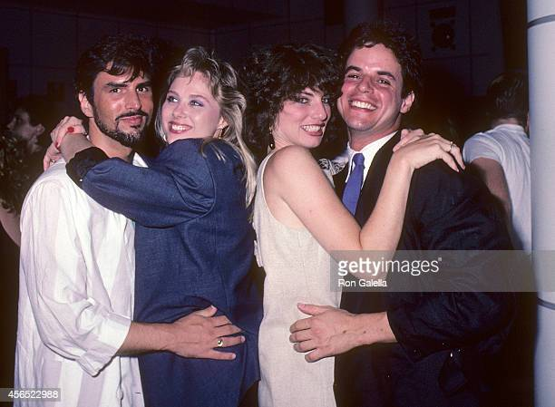 Actor Eddie Earl Hatch actress Kim Johnston Ulrich actress Tracy Kolis and actor Christian LeBlanc attend the party to celebrate Eileen Fulton's...