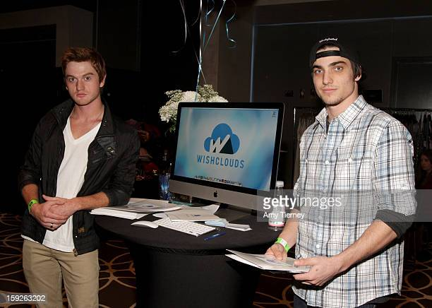 Actor Eddie Hassell and Chase Parsons attend Kari Feinstein's PreGolden Globes Style Lounge at the W Hollywood on January 10 2013 in Hollywood...