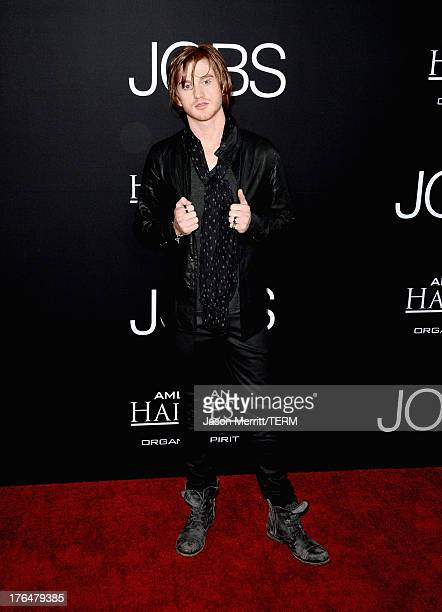 """Actor Eddie Hassell arrives at the screening of Open Road Films and Five Star Feature Films' """"Jobs"""" at Regal Cinemas L.A. Live on August 13, 2013 in..."""