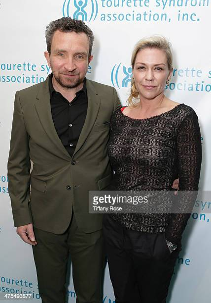 Actor Eddie Marsan and Janine Schneider attend Hollywood Heals Spotlight On Tourette Syndrome at The Conga Room at LA Live on February 27 2014 in Los...