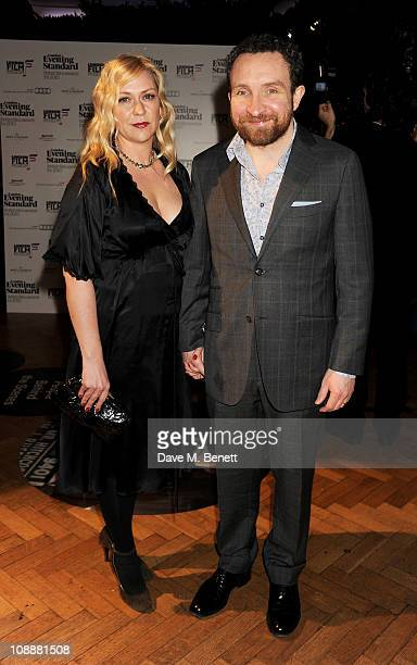 Actor Eddie Marsan and wife Janine Schneider attend the London Evening Standard British Film Awards 2011 at the London Film Museum on February 7 2011...