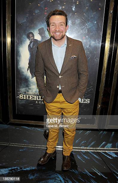 Actor Eddie Marsan arrives at the European Premiere of 'Sherlock Holmes A Game of Shadows' at Empire Leicester Square on December 8 2011 in London...