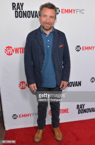 Actor Eddie Marsan arrives to an exclusive conversation with the cast of Showtime's Ray Donovan at Leonard H Goldenson Theatre on April 28 2014 in...
