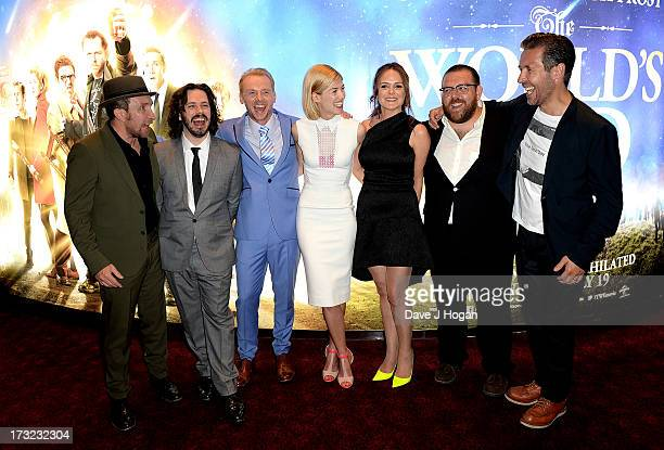 Actor Eddie Marsan director Edgar Wright actors Simon Pegg Rosamund Pike producer Nira Park and actors Nick Frost and Paddy Considine attend The...