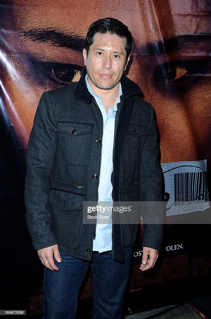 Actor Eddie Martinez arrives at the Los Angeles premiere of 'Eden' at Laemmle Music Hall on March 28, 2013 in Beverly Hills, California.