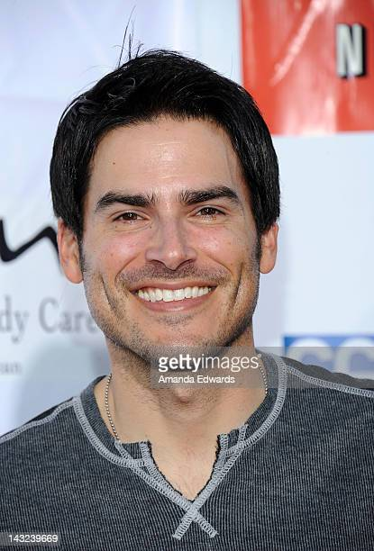 Actor Eddie Matos arrives at the Band From TV's 2nd Annual Block Party On Wisteria Lane at Universal Studios Backlot on April 21 2012 in Universal...