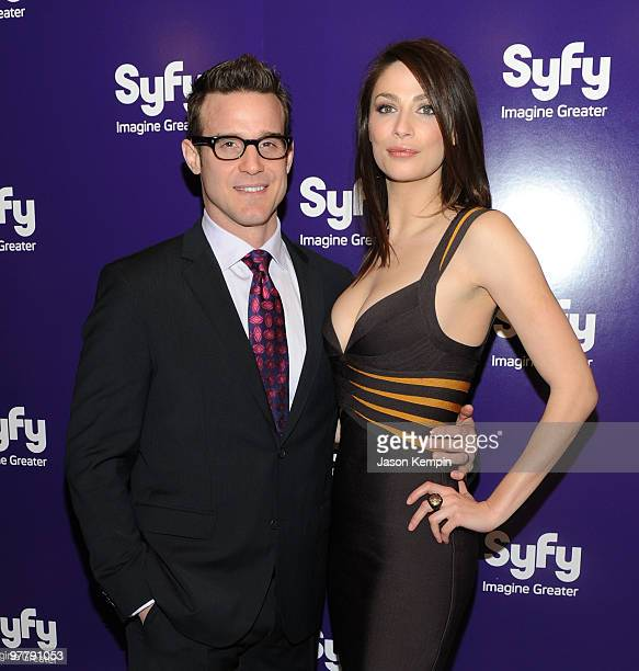 Actor Eddie McClintock and actress Joanne Kelly attend the 2010 Syfy Upfront party at The Museum of Modern Art on March 16, 2010 in New York City.