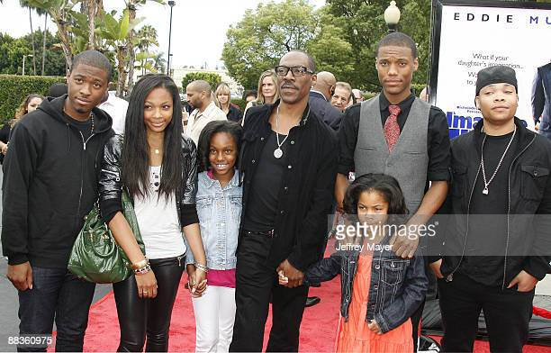 Actor Eddie Murphy and family arrive at the Los Angeles premiere of Imagine That at the Paramount Theater on the Paramount Studios lot on June 6 2009...