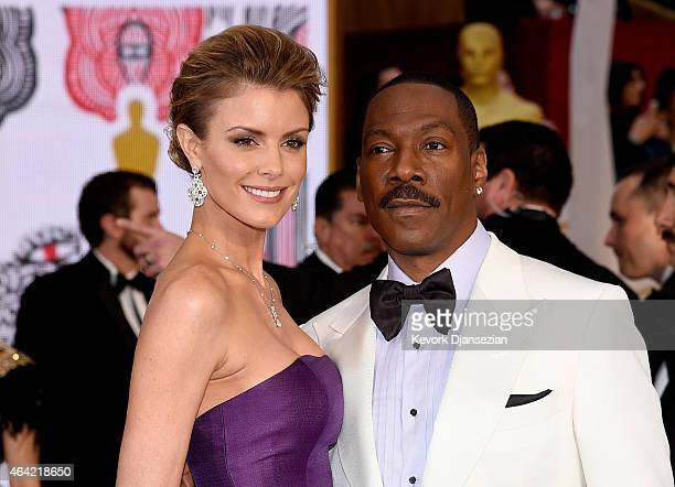 Actor Eddie Murphy and model Paige Butcher attends the 87th Annual Academy Awards at Hollywood Highland Center on February 22 2015 in Hollywood...