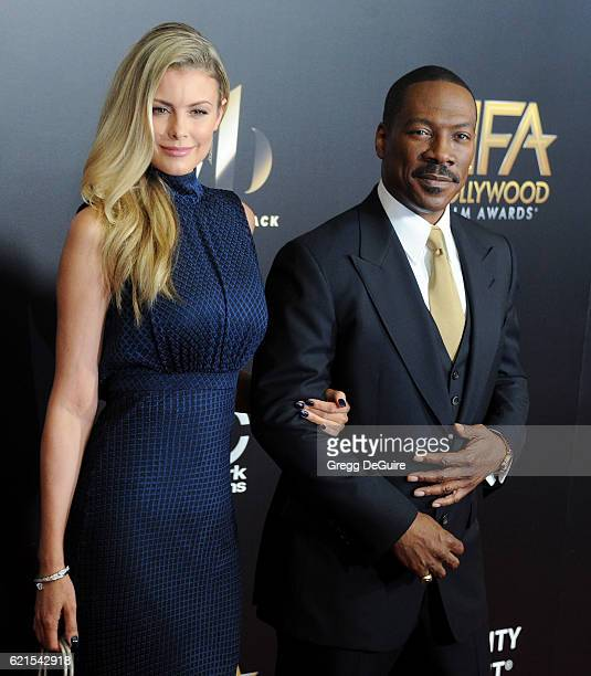 Actor Eddie Murphy and Paige Butcher arrive at the 20th Annual Hollywood Film Awards at The Beverly Hilton Hotel on November 6 2016 in Los Angeles...