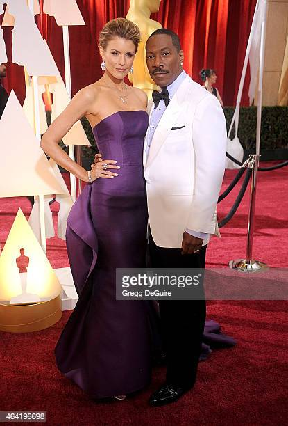 Actor Eddie Murphy and Paige Butcher arrive at the 87th Annual Academy Awards at Hollywood Highland Center on February 22 2015 in Hollywood California
