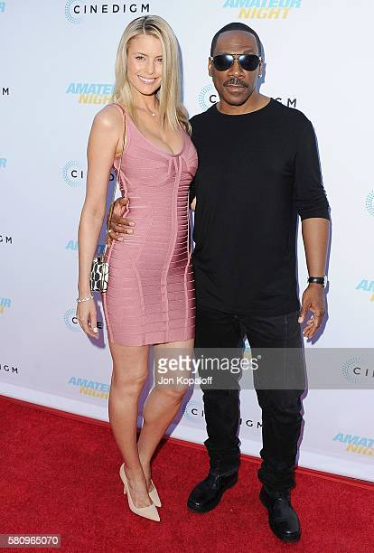 Actor Eddie Murphy and Paige Butcher arrive at the Los Angeles Premiere of Amateur Night at ArcLight Hollywood on July 25 2016 in Hollywood California