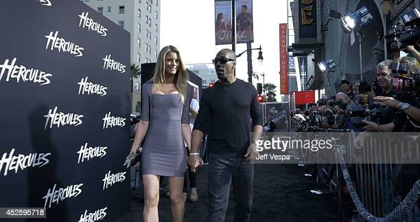 Actor Eddie Murphy and Paige Butcher attend the Los Angeles premiere of Hercules at TCL Chinese Theatre on July 23 2014 in Hollywood California