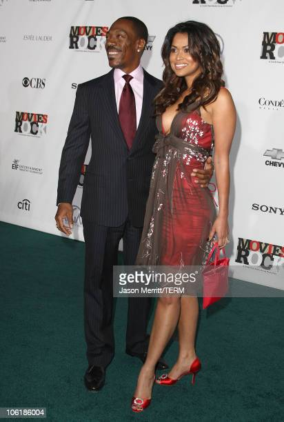 Actor Eddie Murphy and producer Tracey E Edmonds arrive at Conde Nast Media Group's 2007 Movies Rock at the Kodak Theatre on December 2 2007 in...