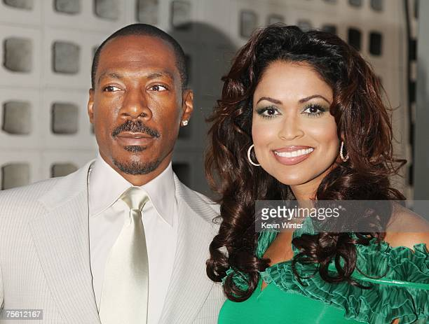 """Actor Eddie Murphy and producer Tracey Edmonds arrive at the premiere of The Weinstein Co.'s """"Who's Your Caddy"""" at the Arclight Theater on July 23,..."""