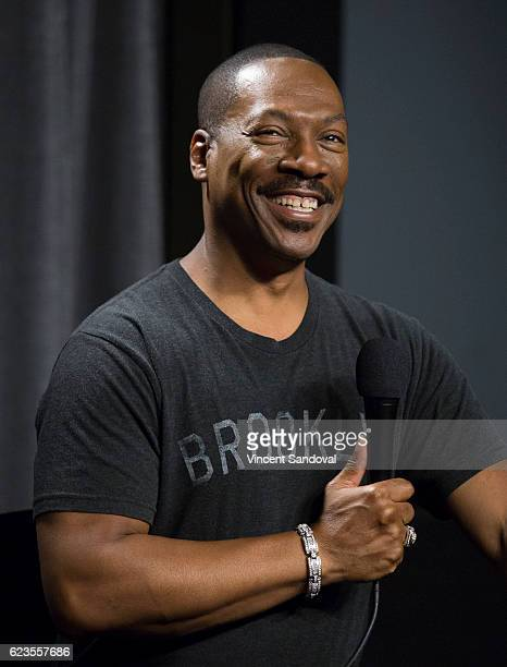 Actor Eddie Murphy attends SAGAFTRA Foundation's Conversations with Mr Church at SAG Foundation Actors Center on November 15 2016 in Los Angeles...