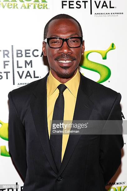 Actor Eddie Murphy attends the 9th Annual Tribeca Film Festival Shrek Forever After premiere at Ziegfeld Theatre on April 21 2010 in New York New York