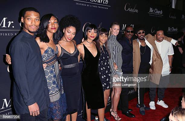 Actor Eddie Murphy Paige Butcher and his children attend the premiere of Cinelou Releasing's Mr Church at ArcLight Hollywood on September 6 2016 in...
