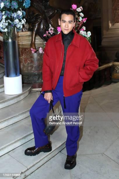Actor Eddie Peng attends the Berluti Menswear Fall/Winter 2020-2021 show as part of Paris Fashion Week at Opera Garnier on January 17, 2020 in Paris,...