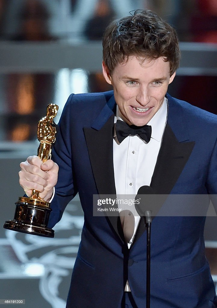 Actor Eddie Redmayne accepts the Best Actor in a Leading Role Award for 'The Theory of Everything' onstage during the 87th Annual Academy Awards at Dolby Theatre on February 22, 2015 in Hollywood, California.
