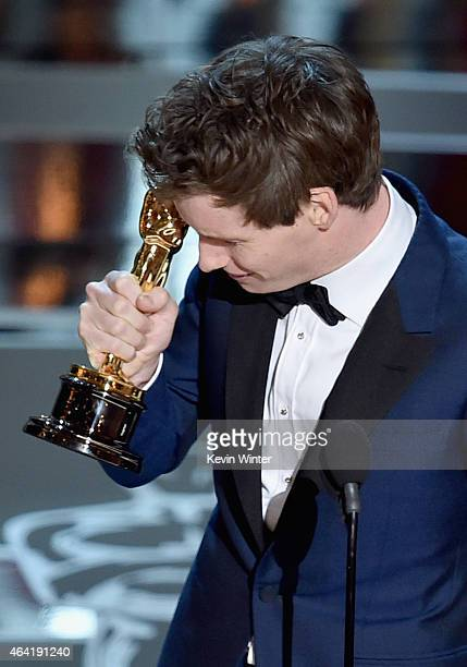 Actor Eddie Redmayne accepts the Best Actor in a Leading Role Award for The Theory of Everything onstage during the 87th Annual Academy Awards at...