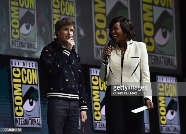 Millie Bobby Brown Vera Farmiga O'Shea Jackson Jr Thomas Middleditch and Michael Dougherty participate in the Warner Bros Theatrical Panel for...
