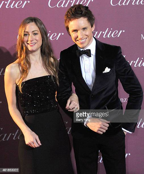 Actor Eddie Redmayne and Hannah Bagshawe arrive at the 26th Annual Palm Springs International Film Festival Awards Gala Presented by Cartier at Palm...