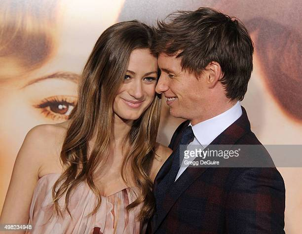 Actor Eddie Redmayne and Hannah Bagshawe arrive at the premiere of Focus Features' The Danish Girl at Westwood Village Theatre on November 21 2015 in...