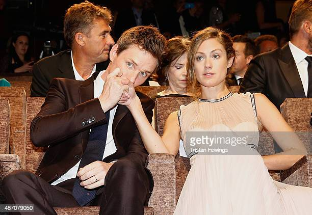 Actor Eddie Redmayne and Hannah Bagshawe attend a premiere for 'The Danish Girl' during the 72nd Venice Film Festival at on September 5 2015 in...