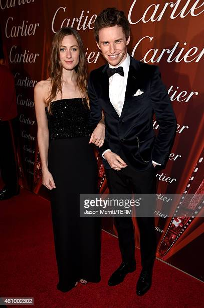 Actor Eddie Redmayne and Hannah Bagshawe attend the 26th Annual Palm Springs International Film Festival Awards Gala at Palm Springs Convention...
