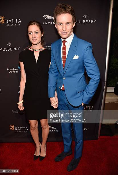 Actor Eddie Redmayne and Hannah Bagshawe attend the BAFTA Los Angeles Tea Party at The Four Seasons Hotel Los Angeles At Beverly Hills on January 10,...