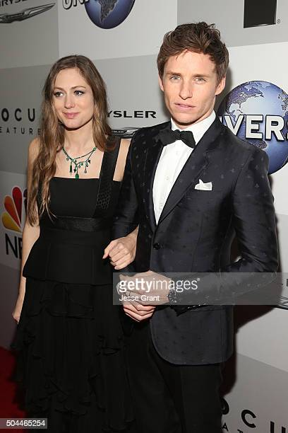 Actor Eddie Redmayne and Hannah Bagshawe attend Universal NBC Focus Features and E Entertainment Golden Globe Awards After Party sponsored by...