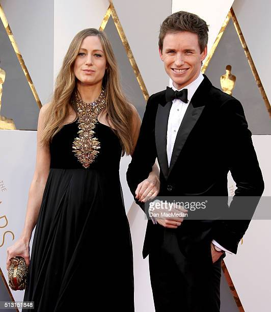 Actor Eddie Redmayne and Hannah Redmayne attend the 88th Annual Academy Awards at Hollywood Highland Center on February 28 2016 in Hollywood...