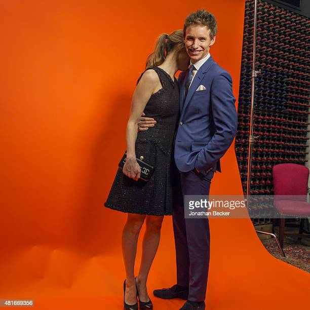 Actor Eddie Redmayne and wife Hannah Bagshawe are photographed at the Charles Finch and Chanel's PreBAFTA on February 7 2015 in London England