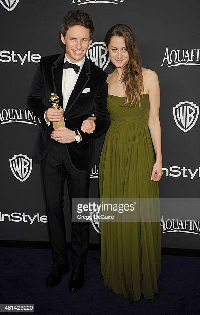 Actor Eddie Redmayne and wife Hannah Bagshawe arrive at the 16th Annual Warner Bros. And InStyle Post-Golden Globe Party at The Beverly Hilton Hotel...