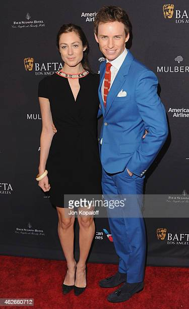 Actor Eddie Redmayne and wife Hannah Bagshawe arrive at the 2015 BAFTA Tea Party at The Four Seasons Hotel on January 10 2015 in Beverly Hills...