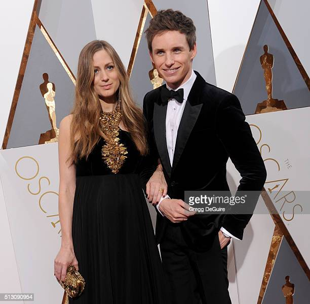 Actor Eddie Redmayne and wife Hannah Bagshawe arrive at the 88th Annual Academy Awards at Hollywood Highland Center on February 28 2016 in Hollywood...