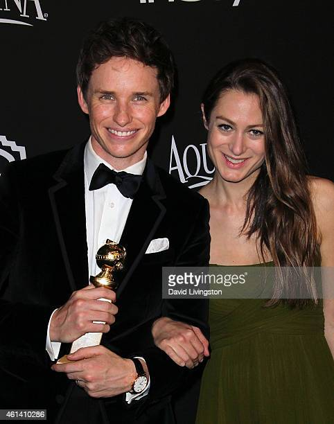 Actor Eddie Redmayne and wife Hannah Bagshawe attend the 2015 InStyle and Warner Bros 72nd Annual Golden Globe Awards PostParty at The Beverly Hilton...