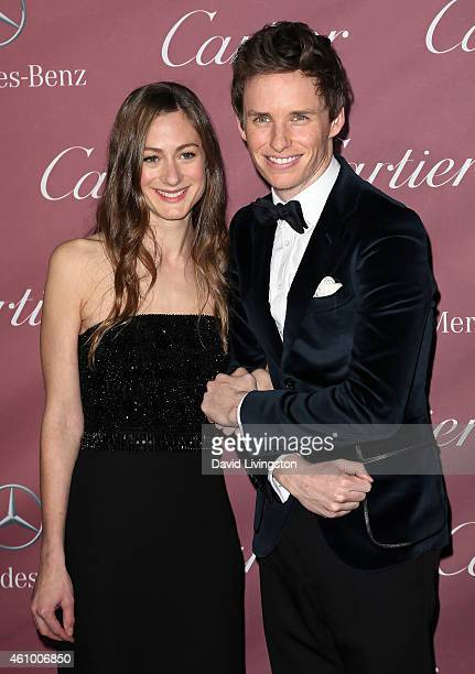 Actor Eddie Redmayne and wife Hannah Bagshawe attend the 26th Annual Palm Springs International Film Festival Awards Gala at the Palm Springs...
