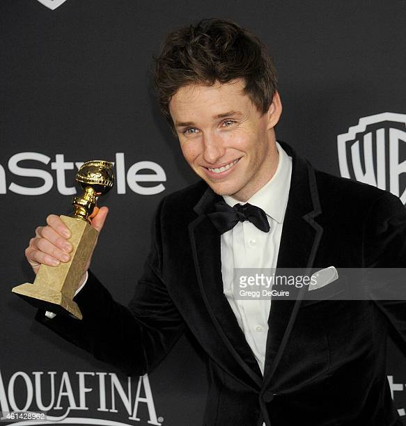 Actor Eddie Redmayne arrives at the 16th Annual Warner Bros. And InStyle Post-Golden Globe Party at The Beverly Hilton Hotel on January 11, 2015 in...