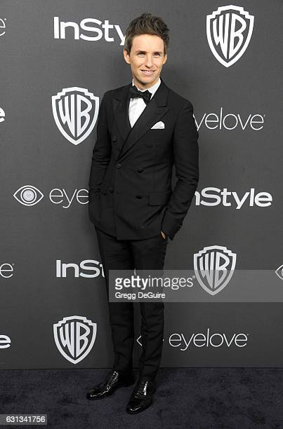 Actor Eddie Redmayne arrives at the 18th Annual PostGolden Globes Party hosted by Warner Bros Pictures and InStyle at The Beverly Hilton Hotel on...
