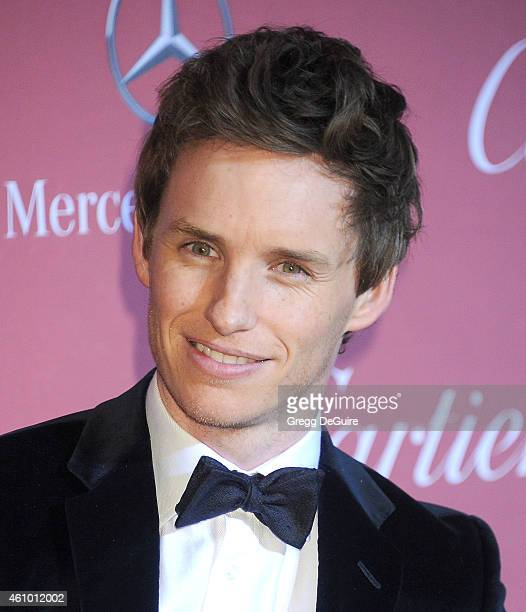 Actor Eddie Redmayne arrives at the 26th Annual Palm Springs International Film Festival Awards Gala Presented By Cartier at Palm Springs Convention...