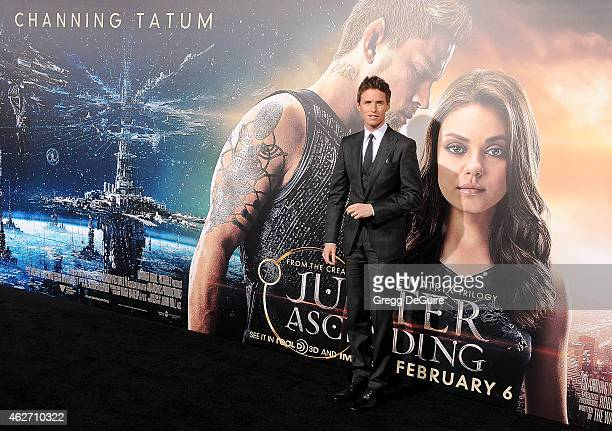 """Actor Eddie Redmayne arrives at the Los Angeles premiere of """"Jupiter Ascending"""" at TCL Chinese Theatre on February 2, 2015 in Hollywood, California."""