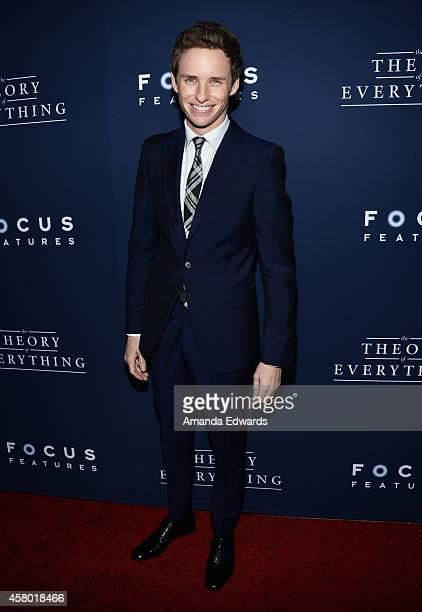 Actor Eddie Redmayne arrives at the Los Angeles premiere of The Theory Of Everything at the AMPAS Samuel Goldwyn Theater on October 28 2014 in...