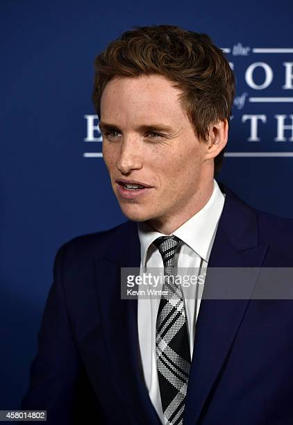 """Actor Eddie Redmayne arrives to the Premiere of Focus Features' """"The Theory Of Everything"""" at AMPAS Samuel Goldwyn Theater on October 28, 2014 in..."""