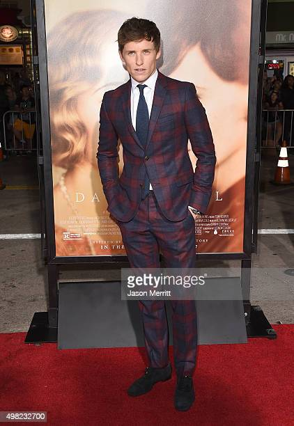 Actor Eddie Redmayne attend the premiere of Focus Features' The Danish Girl at Westwood Village Theatre on November 21 2015 in Westwood California