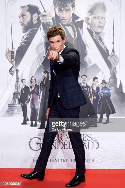 Actor Eddie Redmayne attends 'Animales Fantasticos Los Crimenes De Grindelwald' premiere at the Kinepolis cinema on November 15 2018 in Madrid Spain