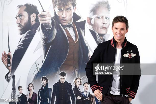 Actor Eddie Redmayne attends 'Animales Fantasticos Los Crimenes De Grindelwald' photocall at the Villamagna Hotel on November 16 2018 in Madrid Spain