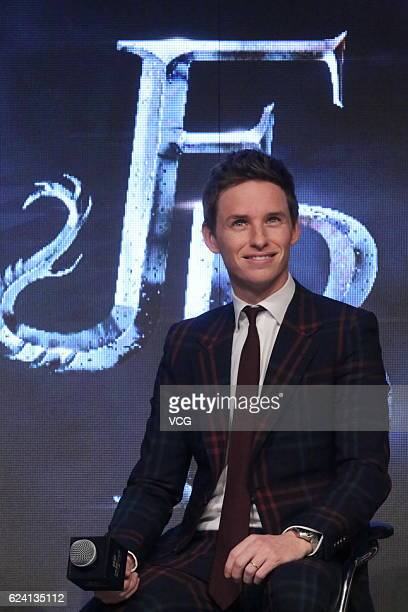 Actor Eddie Redmayne attends 'Fantastic Beasts And Where To Find Them' press conference at Sanlitun on November 18 2016 in Beijing China