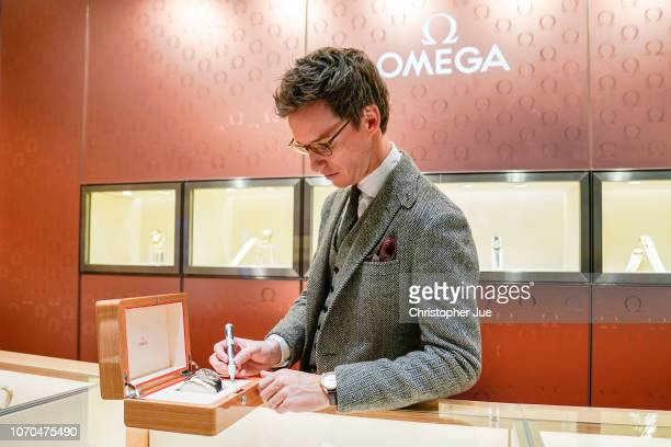 Actor Eddie Redmayne attends OMEGA Fantastic Night on November 20 2018 in Tokyo Japan